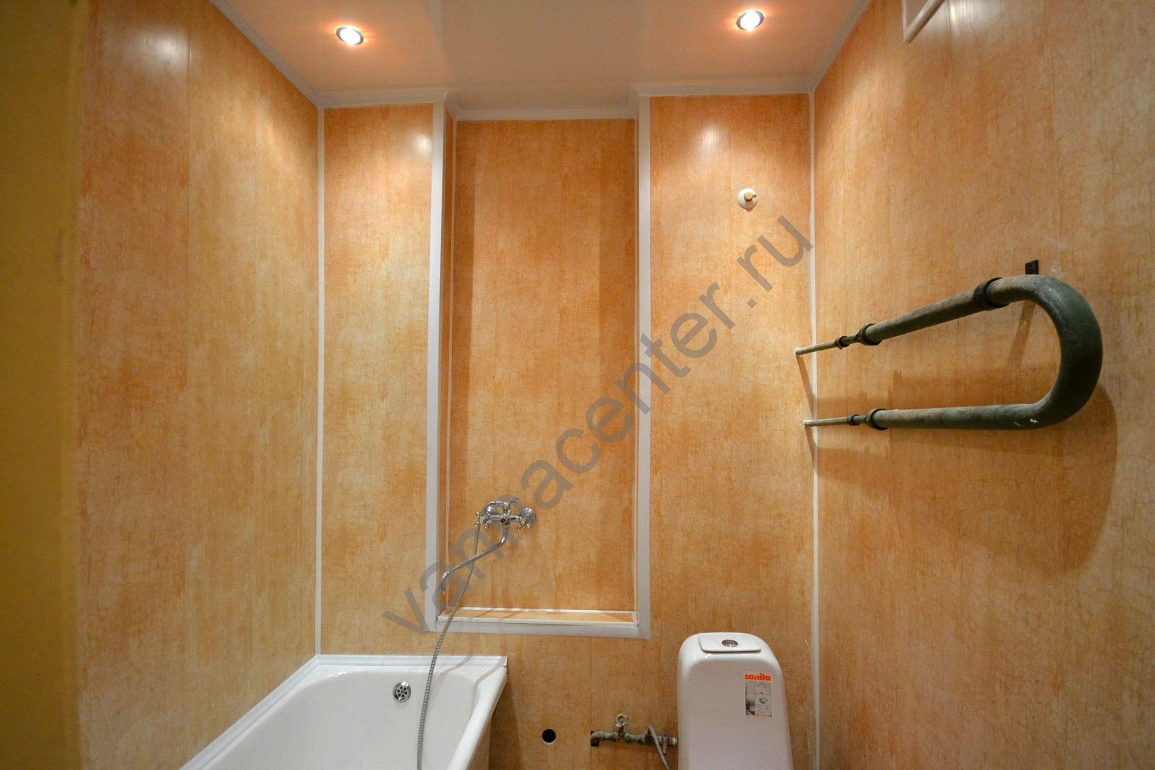 Ремонт ванны и туалета пластиком