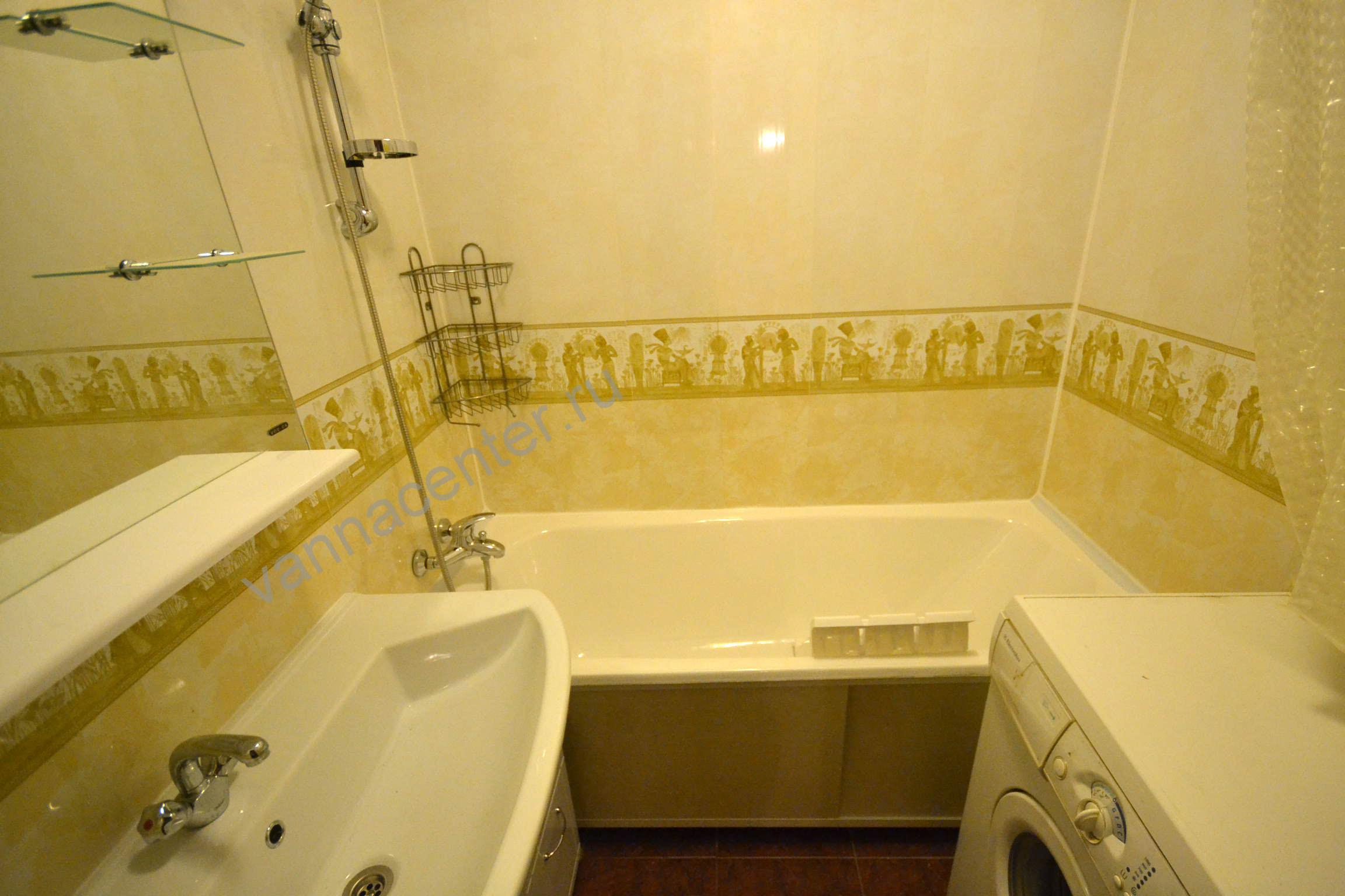 Потолок в ванной комнате из пластиковых панелей 25